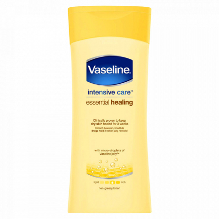 Lotiune de corp pentru piele uscata si sensibila Vaseline Intensive Care Essential Healing, 200 ml