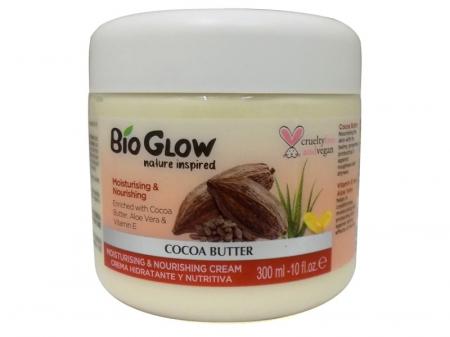 Unt de Corp Bio Glow cu Cacao, Aloe Vera si Vitamina E, pentru piele uscata, 300 ml