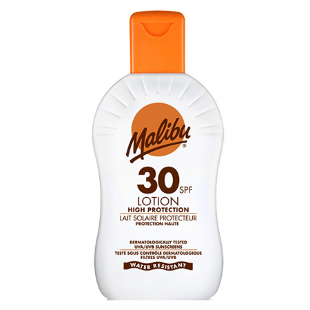 Lotiune Protectie Solara MALIBU High Protection Lotion, Waterproof, SPF 30, 100ml (Travel size)