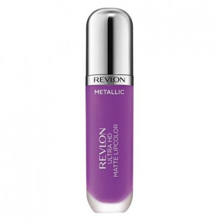 Luciu de buze mat Revlon Ultra HD Metallic Matte Lip Color HD, 710 Dazzle