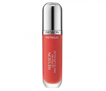 Luciu de buze mat Revlon Ultra HD Metallic Matte Lip Color HD, 700 Flare