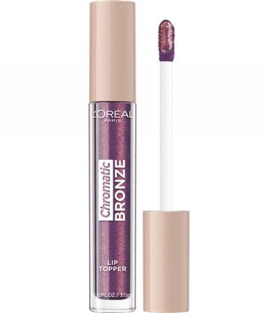Luciu de Buze Metalizat L'Oreal Paris Chromatic Bronze Lip Topper, 03 Purple Fizz, 3 ml