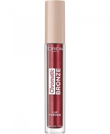 Luciu de Buze Metalizat L'Oreal Paris Chromatic Bronze Lip Topper, 04 Red Tonic, 3 ml4