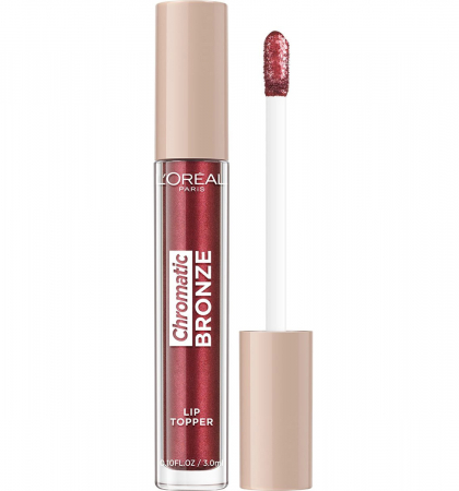 Luciu de Buze Metalizat L'Oreal Paris Chromatic Bronze Lip Topper, 04 Red Tonic, 3 ml