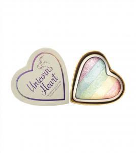 Iluminator Makeup Revolution I Heart Makeup a Rainbow Highlighter made by unicorns - Unicorns Heart1