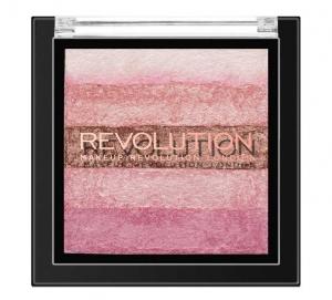 Paleta iluminatoare cu farduri de obraz MAKEUP REVOLUTION Shimmer Brick Pink Kiss, 7g0