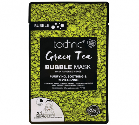 Masca purificatoare TECHNIC Green Tea Bubble Mask, 20 g