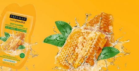 Masca curatare pentru tenul gras FREEMAN Manuka Honey + Tea Tree Oil Clay Mask, 15 ml2