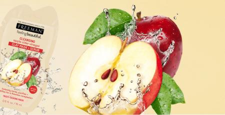 Masca de curatare multifunctionala FREEMAN Cleansing Apple Cider Vinegar Clay Mask, 15 ml1