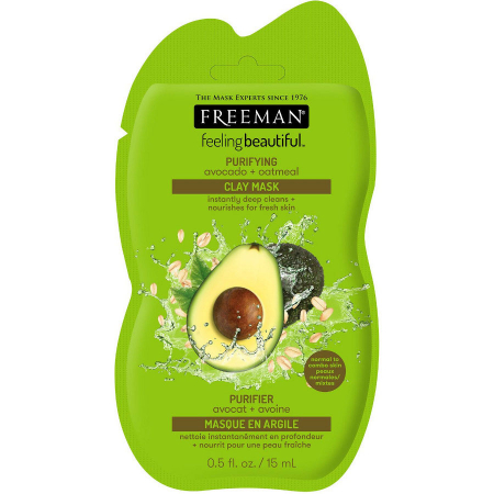 Masca hranitoare si purificatoare FREEMAN Purifying Avocado + Oatmeal Clay Mask, 15 ml0