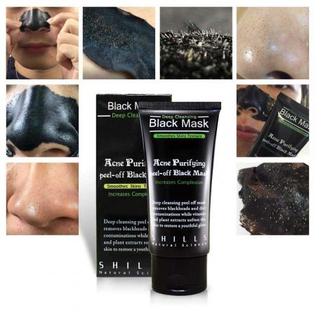 Masca neagra SHILLS Pore Black Mask pentru indepartat punctele negre, punctele de grasime, tratament acnee4