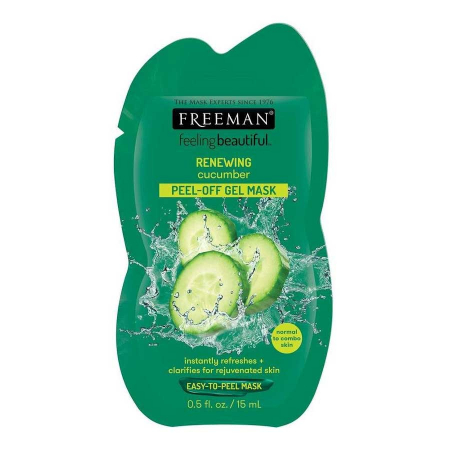 Masca exfolianta pentru ten obosit FREEMAN Renewing Cucumber Peel-Off Gel Mask, 15 ml
