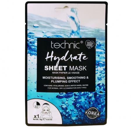 Masca Hidratanta cu Acid Hialuronic TECHNIC Hydrate Sheet Mask, 18 g