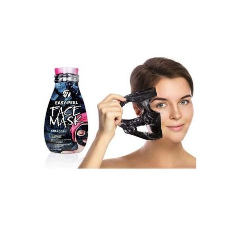 Masca pe Baza de Carbune pentru Indepartarea Impuritatilor W7 Easy Peel Face Mask, Charcoal, 10 g1
