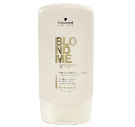 Crema leave-in pentru parul blond Schwarzkopf Professional BlondMe Volume Miracle Cream, 150 ml