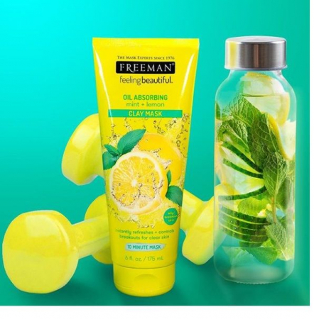 Masca pentru tenul gras FREEMAN Oil Absorbing Mint + Lemon Clay Mask, 175 ml6