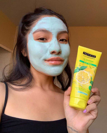 Masca pentru tenul gras FREEMAN Oil Absorbing Mint + Lemon Clay Mask, 175 ml9