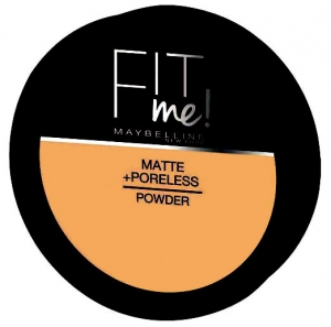 Pudra compacta matifianta Maybelline New York Fit Me Matte & Poreless Pressed Powder - 330 Toffee, 14 gr