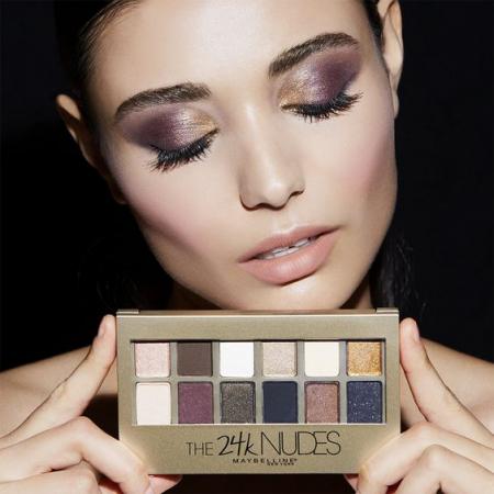 Paleta Farduri Maybelline The 24 Karat Nudes Eyeshadow Palette, 12 Nuante, 9.6 g1