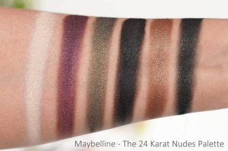 Paleta Farduri Maybelline The 24 Karat Nudes Eyeshadow Palette, 12 Nuante, 9.6 g3
