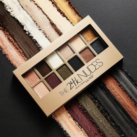 Paleta Farduri Maybelline The 24 Karat Nudes Eyeshadow Palette, 12 Nuante, 9.6 g5
