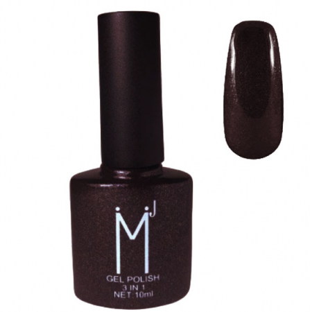 Oja semipermanenta cu sclipici 3 in 1, MJ Gel Polish, Nuanta 099, Dark Chocolate, 10 ml