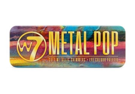 Paleta farduri W7 Metal Pop Soft Metallic Shimmers, 12 culori metalice, 15.6 g1