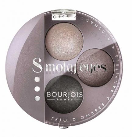 Paleta 3 Farduri Bourjois Paris Smoky Eyes - 12 Gris Lilac, 4.5 g