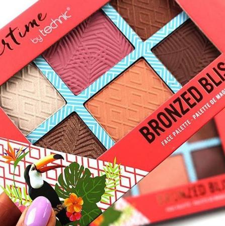 Paleta bronzanta iluminatoare TECHNIC Summertime - Bronzed Bliss, 6 culori, 2 x 3.6 g4
