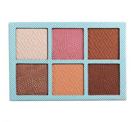 Paleta bronzanta iluminatoare TECHNIC Summertime - Bronzed Bliss, 6 culori, 2 x 3.6 g3