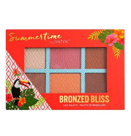 Paleta bronzanta iluminatoare TECHNIC Summertime - Bronzed Bliss, 6 culori, 2 x 3.6 g2