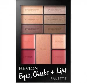 Paleta Completa Pentru Machiaj Revlon Eyes, Cheeks + Lips 100 Romantic Nudes, 12 gr