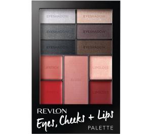 Paleta Completa Pentru Machiaj Revlon Eyes, Cheeks + Lips 200 Seductive Smokies, 12 gr