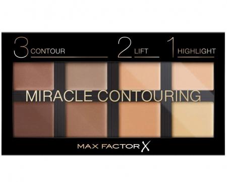 Paleta pentru conturare si evidentiere MAX FACTOR Miracle 3-2-1 Contouring, 30 g