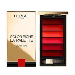 Paleta pentru buze cu 6 rujuri L'OREAL COLOR RICHE   La Palette - Red, 6 gr