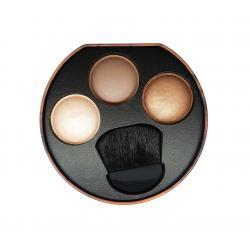 Paleta cu Iluminatoare Bronzante W7 Solar Glow Bronzer Shimmer & Highlighter, 3x3g1
