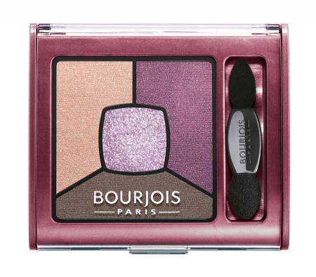 Paleta de Farduri Bourjois Smoky Stories - 15 Brilliant Prunette, 3.2 gr
