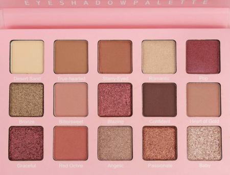 Paleta de farduri Febble Eyeshadow Palette, 15 Colors0