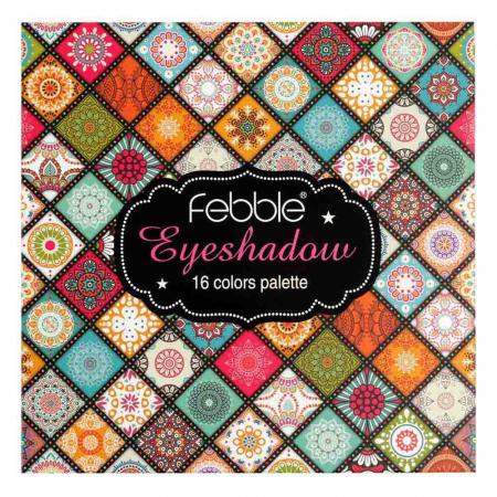 Paleta de farduri Febble Eyeshadow Palette, 16 Colors5