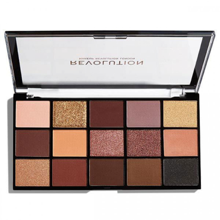 Paleta de farduri Makeup Revolution - Re-Loaded Palette - Velvet Rose, 15 Nuante