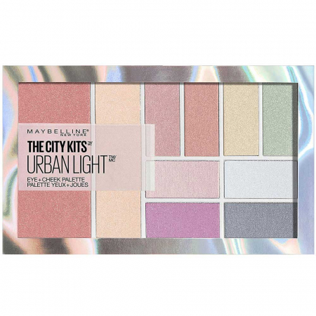 Paleta multifunctionala pentru pleoape si pometi Maybelline New York City Kits, Urban Light, 12 g2