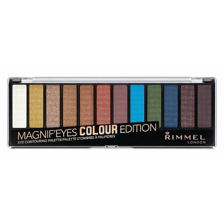 Paleta de farduri Rimmel Magnif'Eyes Colour Edition Eye Contouring Palette, 14.2 g0
