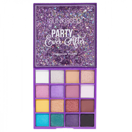 Paleta de farduri SUNKISSED Party Ever After, 16 Culori, 16 g