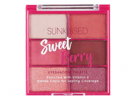 Paleta de farduri SUNKISSED Sweet Berry, 6 Culori, 6 x 2.8 g