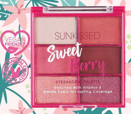 Paleta de farduri SUNKISSED Sweet Berry, 6 Culori, 6 x 2.8 g1