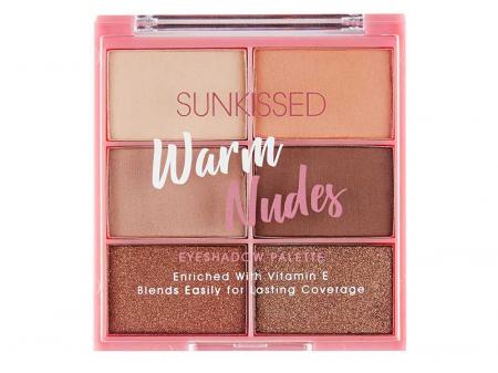 Paleta de farduri SUNKISSED Warm Nudes, 6 Culori, 6 x 2.8 g