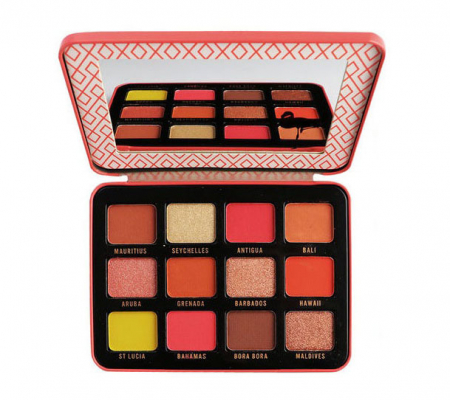 Paleta de farduri TECHNIC Summertime Pigments - Summer Glow, 12 culori