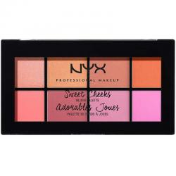 Paleta farduri de obraz NYX Professional Makeup Sweet Cheeks Blush Palette, 8x3.5g