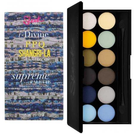 Paleta farduri SLEEK MakeUP i-Divine Eyeshadow Palette  PPQ Shangri-La, 12x1.1 gr