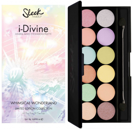 Paleta farduri SLEEK MakeUP i-Divine Eyeshadow Palette Whimsical Wonderland, 12x0.8 gr0
